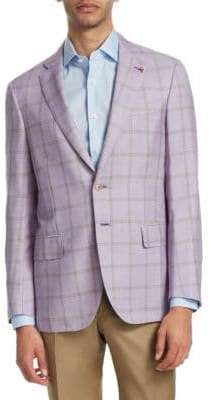Isaia Windowpane Cotton Sportcoat
