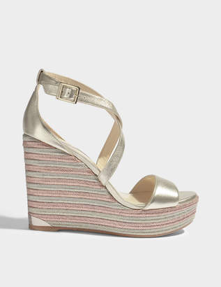 Jimmy Choo Portia 120 cross front wedges