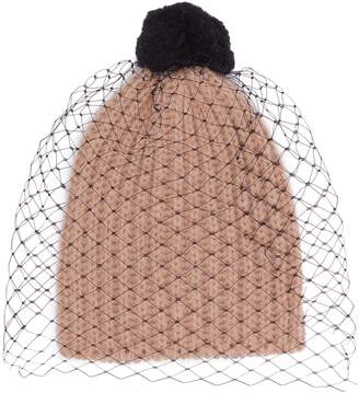 Bernstock Speirs Pompom veil knit beanie