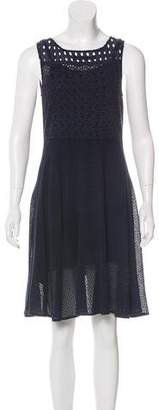 AllSaints Embroidered Knee-Length Dress