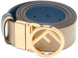 Fendi Logo-embellished reversible leather belt