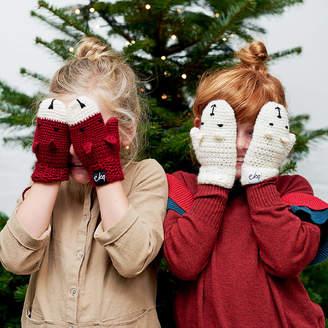eka Crocheted Child's Animal Character Mittens