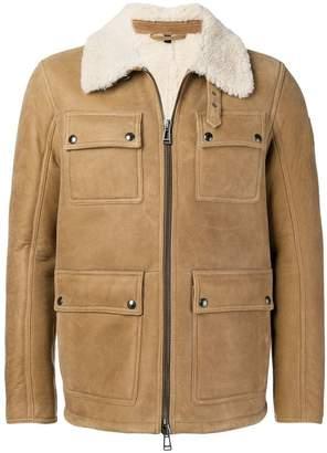 Belstaff cargo shearling jacket