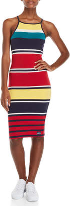 Superdry Stripe Color Block Midi Dress