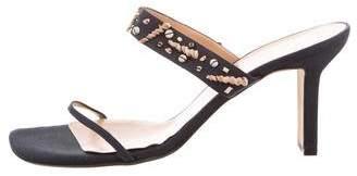 Richard Tyler Embellished Slide Sandals