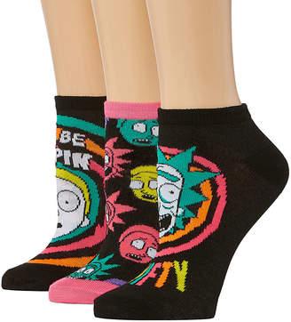 N. LICENSED PROPERTIES Rick Morty 3 Pair Low Cut Socks - Womens