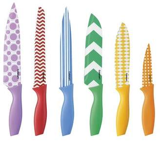 Cuisinart 12-Piece Printed Color Knife Set with Blade Guards