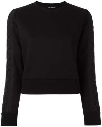 Neil Barrett lattice detail sweatshirt