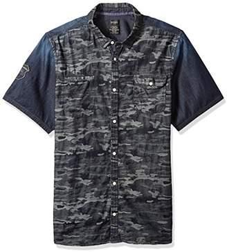 Buffalo David Bitton Men's Sakila Short Sleeve Camo Button Down Shirt