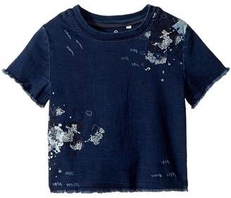 AG Adriano Goldschmied Kids Dalis Knit Embroidered Short Sleeve Shirt Girl's Clothing