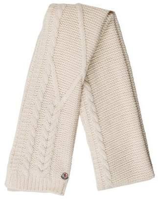 Moncler Wool Blend Rib Knit Scarf