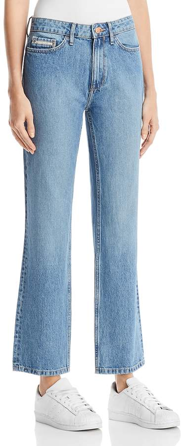 High Rise Straight Jeans in Seinne Blue