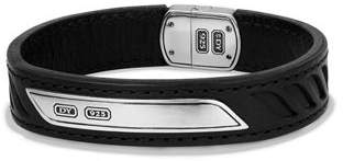 David Yurman Men's Leather Cable ID Bracelet