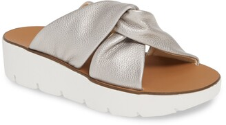 Paul Green Alicia Knotted Wedge Slide Sandal