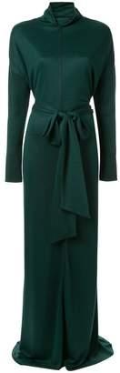 LAYEUR tie waist evening dress