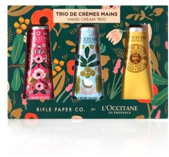 L'Occitane Rifle Paper Co. Shea Butter Hand Cream Trio