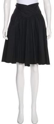Diane von Furstenberg Surplice Knee-Length Skirt