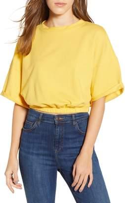 BP Vintage Wash Crop Short Sleeve Sweatshirt