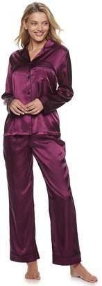 Apt. 9 Women's Satin Shirt & Pants Pajama Set