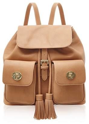 Marc B Double Pocket Camel Backpack