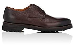 Doucal's Men's Grained Leather Bluchers - Dk. brown