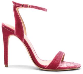 Alexandre Birman Velvet Willow Ankle Strap Sandals