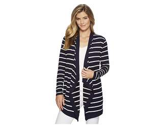 Lauren Ralph Lauren Striped Open-Front Cardigan Women's Sweater