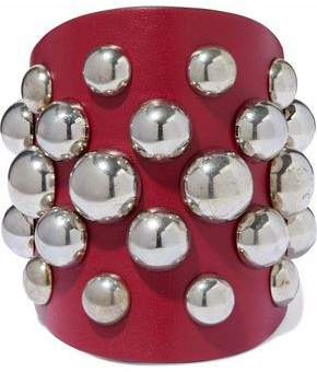 RED Valentino Studded Leather Cuff