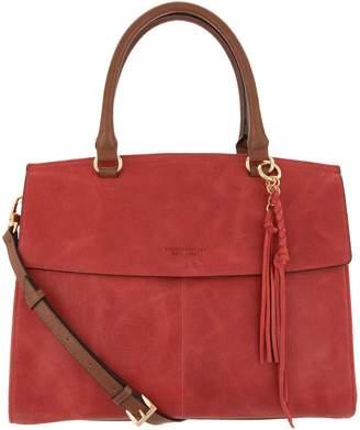Tignanello Italia Leather Convertible Satchel Handbag - Carson