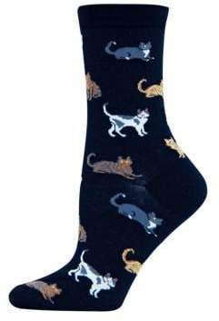 Hot Sox Cat Printed Trouser Socks