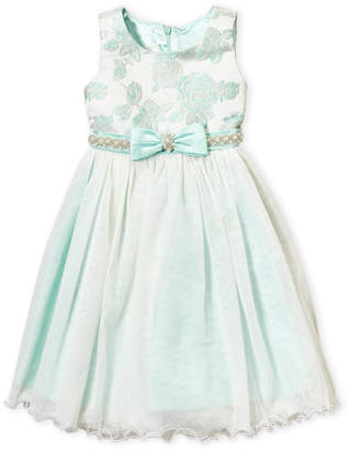 American Princess (Toddler Girls) Floral Jacquard Tutu Dress