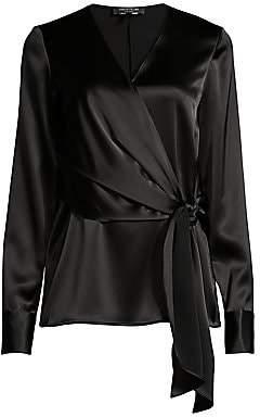 Lafayette 148 New York Women's Olivia Satin Side-Tie Blouse