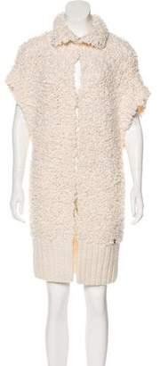 John Galliano Bouclé Open Knit Vest
