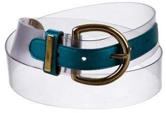 Dolce & Gabbana PVC Metallic Belt