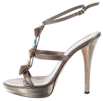 Gianvito Rossi Embellished Ankle Strap Sandals