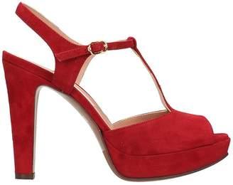 L'Autre Chose Plateau Red Suede Sandals