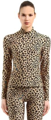 VIVETTA LEOPARD PRINTED STRETCH LYCRA TOP
