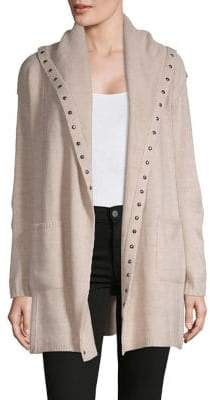 Style&Co. Style & Co. Hooded Stud Open-Front Cardigan
