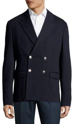 Pierre Balmain Peak Lapel Double-Breasted Blazer