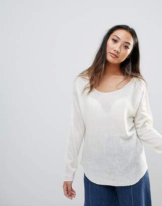 H.One h.One Wool Mix Relaxed Scoop Knit Sweater