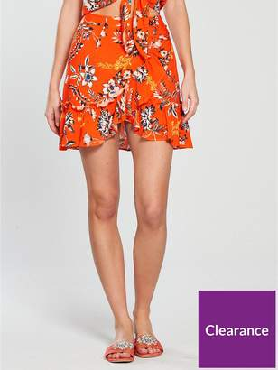 Very Frill Wrap Skirt - Floral