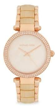 Michael Kors Mother-Of-Pearl & Stainless Steel Bracelet Watch