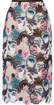 Erdem Safia Guipure Lace Midi Skirt