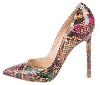 Christian Louboutin Snakeskin Pigalle Pumps