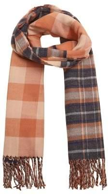 MANGO Check knit scarf