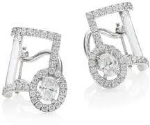 Messika Glam'Azone Diamond& 18K White Gold Clip-On Ear Cuffs