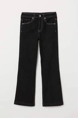 H&M Kickflare High Ankle Jeans - Black