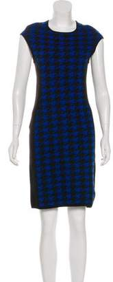 Michael Kors Wool Houndstooth Dress