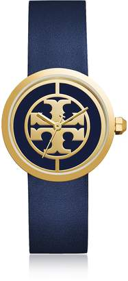Tory Burch TBW4021 The Reva Blue Leather Women's Watch