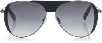 Jimmy Choo RAVE Black Aviators with Crystal Embedded Spoilers